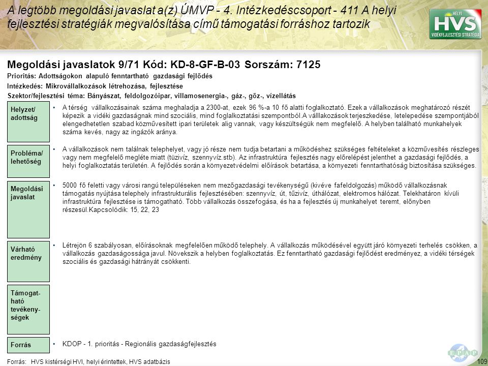 Megoldási javaslatok 9/71 Kód: KD-8-GF-B-03 Sorszám: 7125