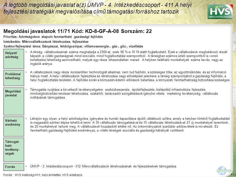 Megoldási javaslatok 11/71 Kód: KD-8-GF-A-08 Sorszám: 22