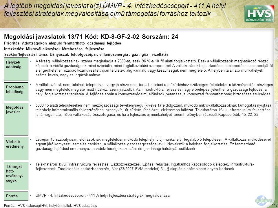 Megoldási javaslatok 13/71 Kód: KD-8-GF-2-02 Sorszám: 24