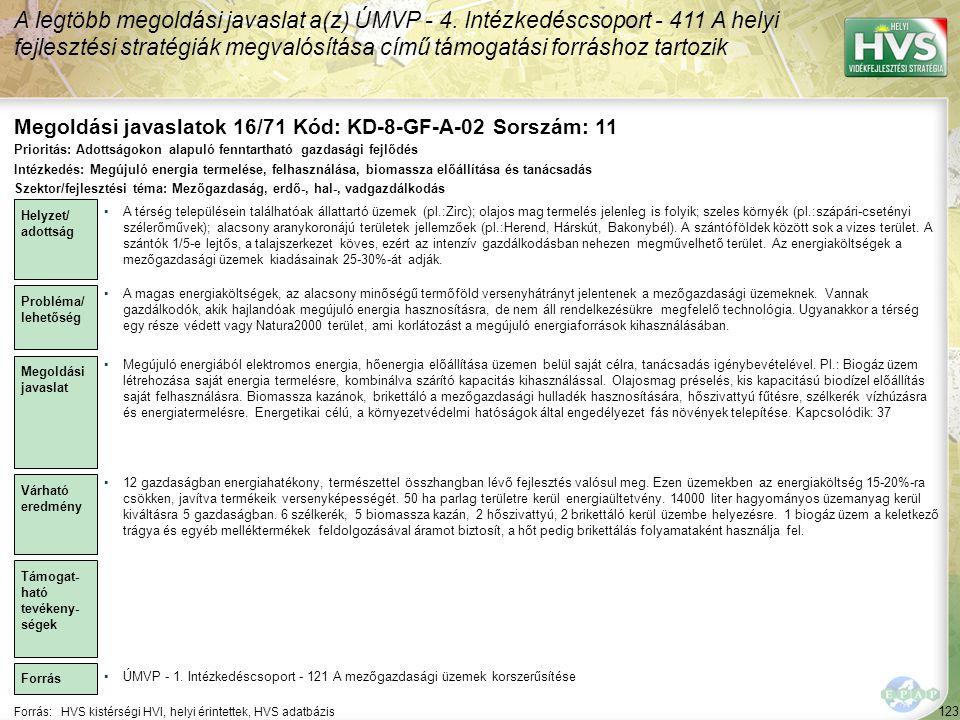 Megoldási javaslatok 16/71 Kód: KD-8-GF-A-02 Sorszám: 11