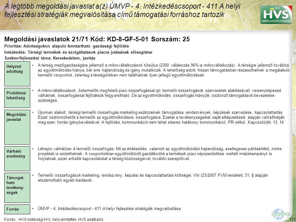 Megoldási javaslatok 21/71 Kód: KD-8-GF-5-01 Sorszám: 25