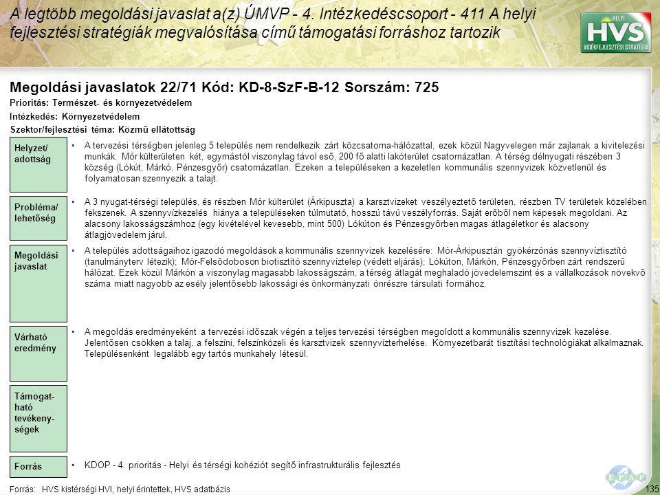 Megoldási javaslatok 22/71 Kód: KD-8-SzF-B-12 Sorszám: 725