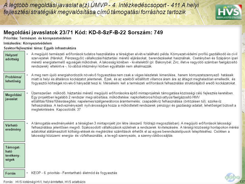 Megoldási javaslatok 23/71 Kód: KD-8-SzF-B-22 Sorszám: 749