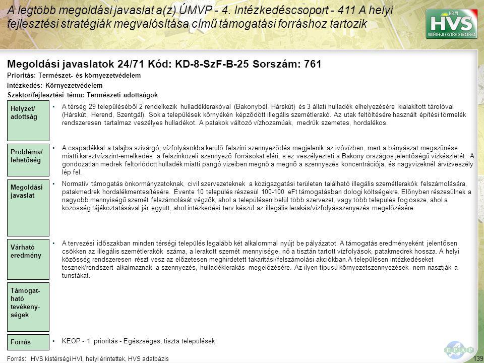 Megoldási javaslatok 24/71 Kód: KD-8-SzF-B-25 Sorszám: 761