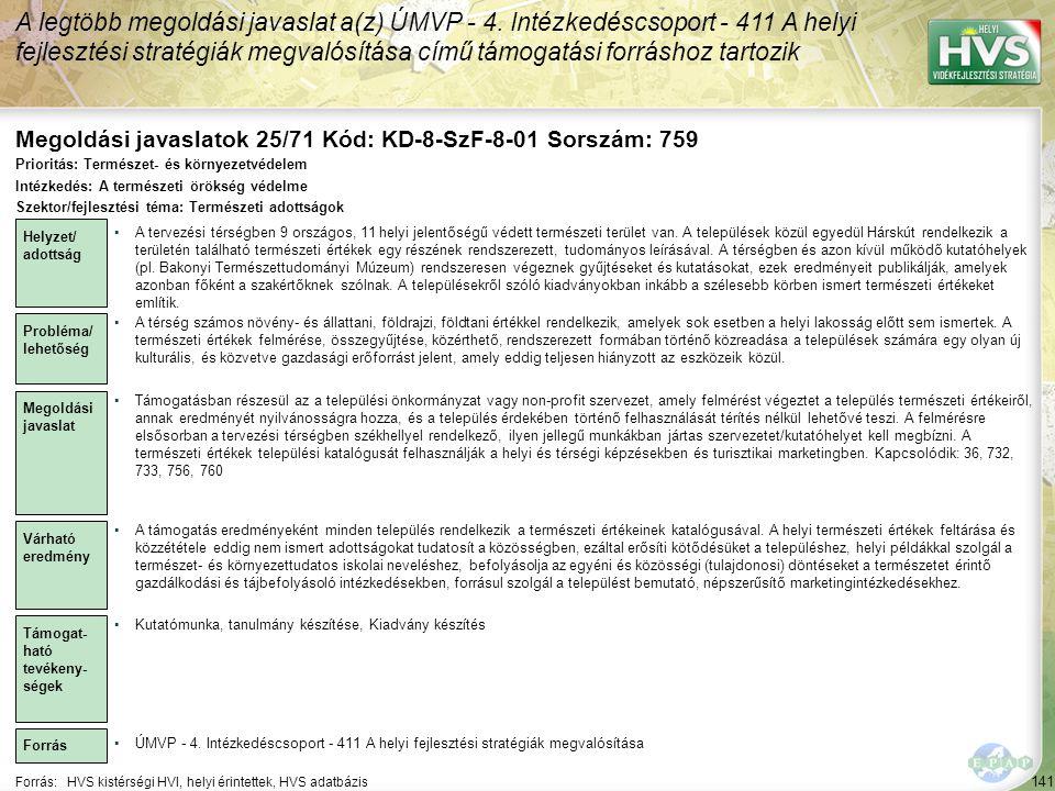 Megoldási javaslatok 25/71 Kód: KD-8-SzF-8-01 Sorszám: 759