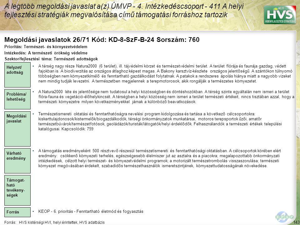 Megoldási javaslatok 26/71 Kód: KD-8-SzF-B-24 Sorszám: 760