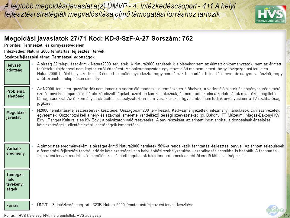 Megoldási javaslatok 27/71 Kód: KD-8-SzF-A-27 Sorszám: 762