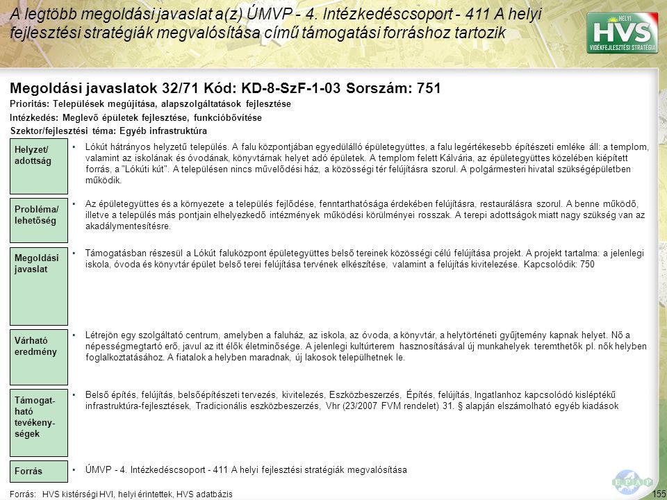 Megoldási javaslatok 32/71 Kód: KD-8-SzF-1-03 Sorszám: 751