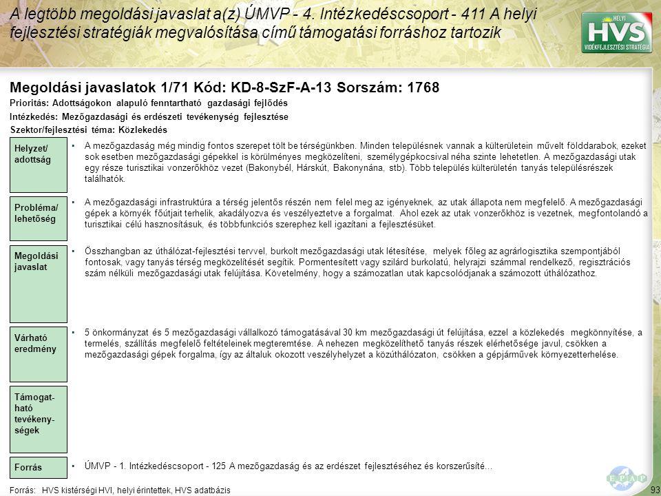 Megoldási javaslatok 1/71 Kód: KD-8-SzF-A-13 Sorszám: 1768