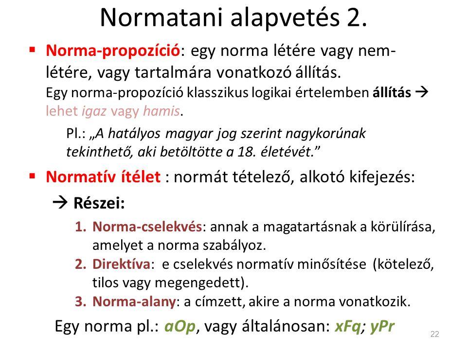 Normatani alapvetés 2.