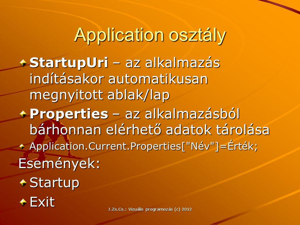 J.Zs.Cs.: Vizuális programozás (c) 2012