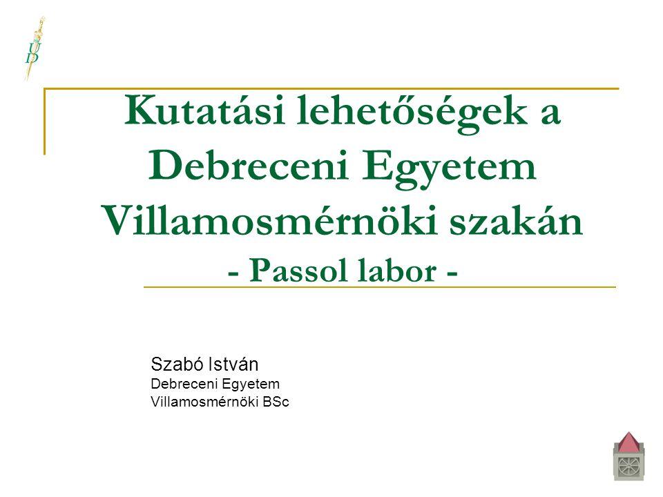 Szabó István Debreceni Egyetem Villamosmérnöki BSc