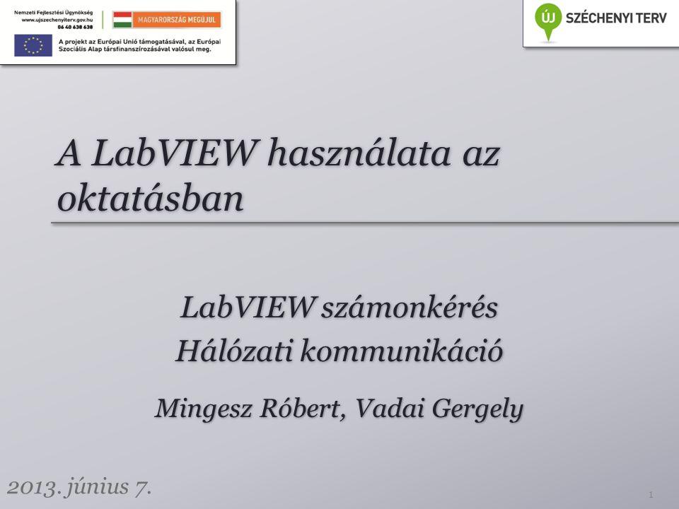 A LabVIEW használata az oktatásban