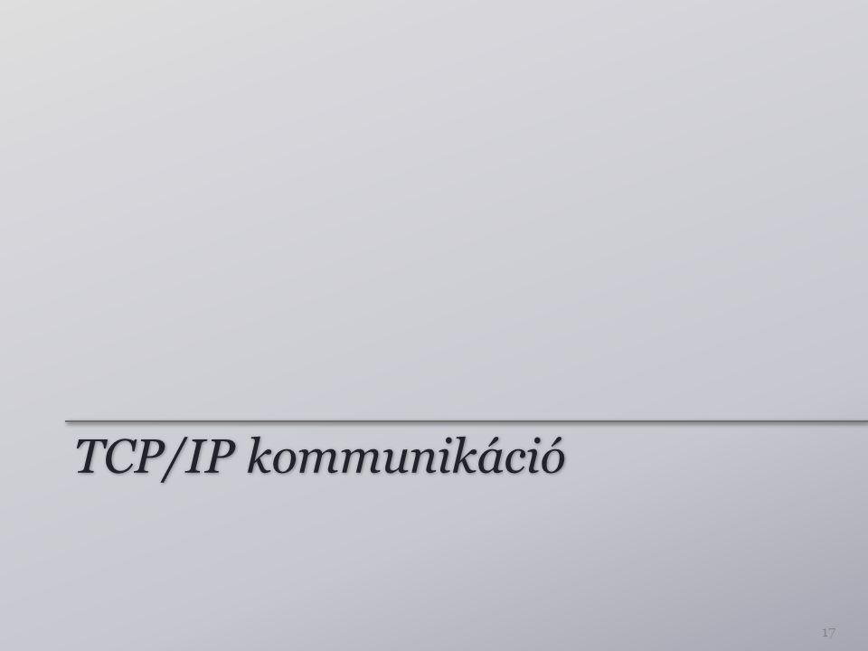 TCP/IP kommunikáció