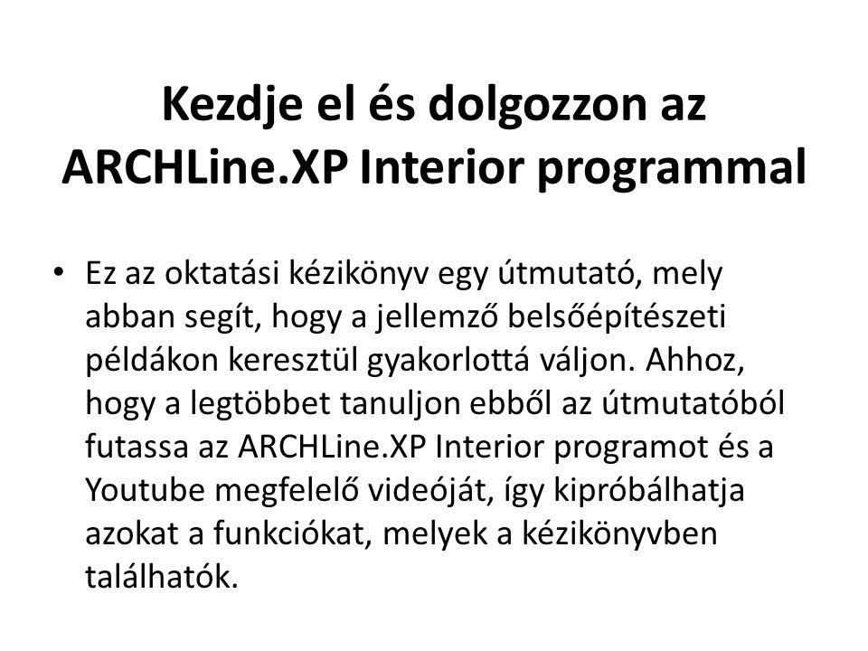 Kezdje el és dolgozzon az ARCHLine.XP Interior programmal