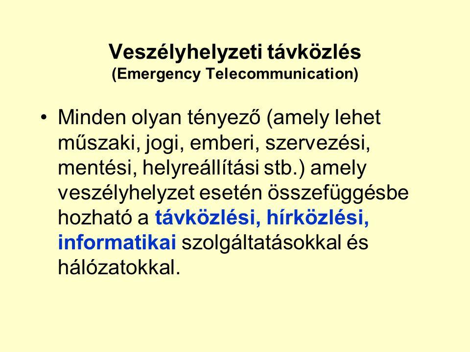 Veszélyhelyzeti távközlés (Emergency Telecommunication)