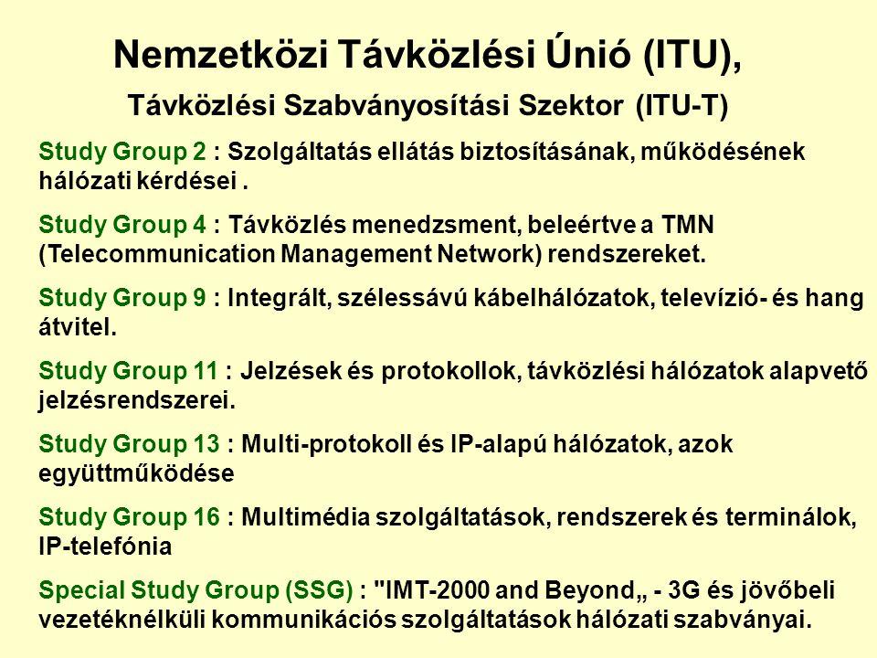 Nemzetközi Távközlési Únió (ITU), Távközlési Szabványosítási Szektor (ITU-T)