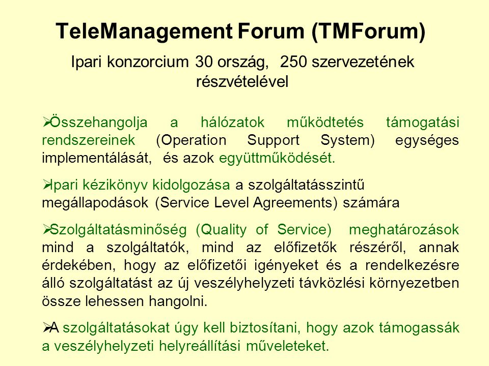 TeleManagement Forum (TMForum)