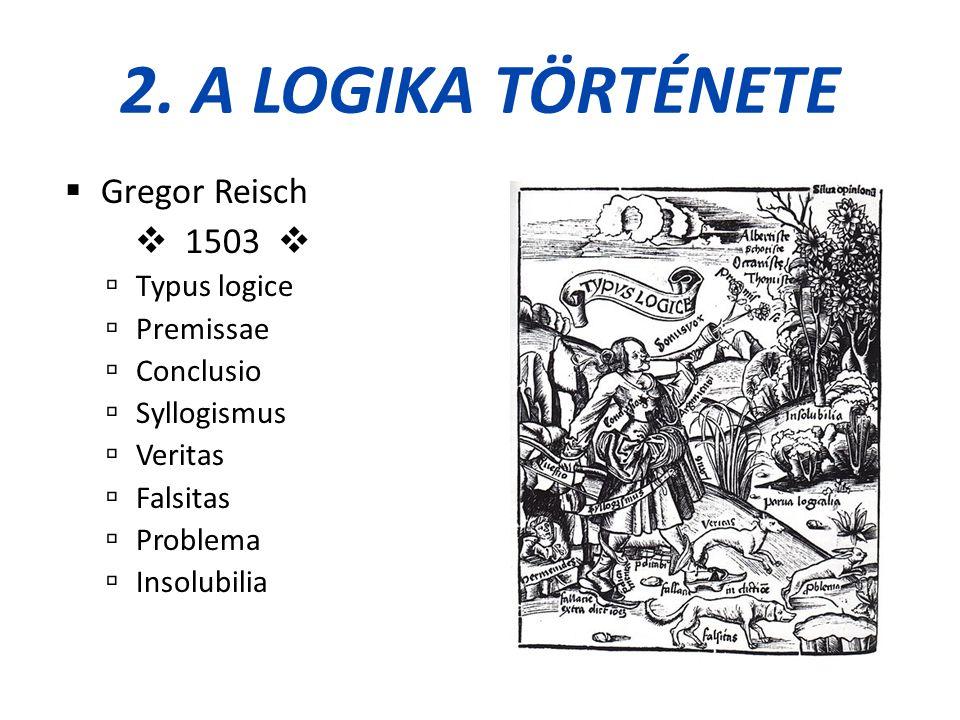 2. A logika története Gregor Reisch  1503  Typus logice Premissae