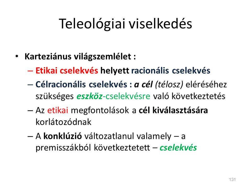 Teleológiai viselkedés