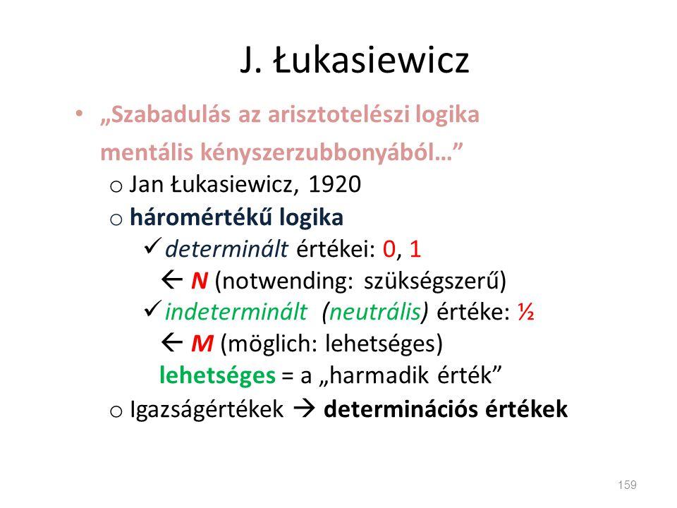 """J. Łukasiewicz """"Szabadulás az arisztotelészi logika"""