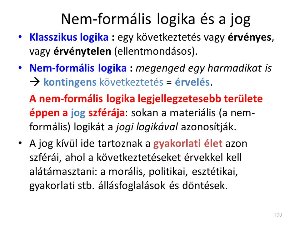 Nem-formális logika és a jog