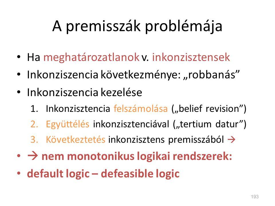 A premisszák problémája