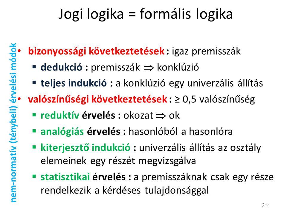 Jogi logika = formális logika