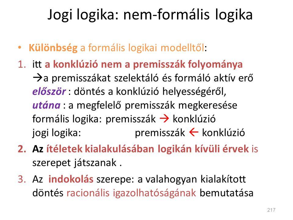 Jogi logika: nem-formális logika