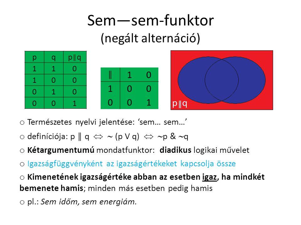 Sem—sem-funktor (negált alternáció)