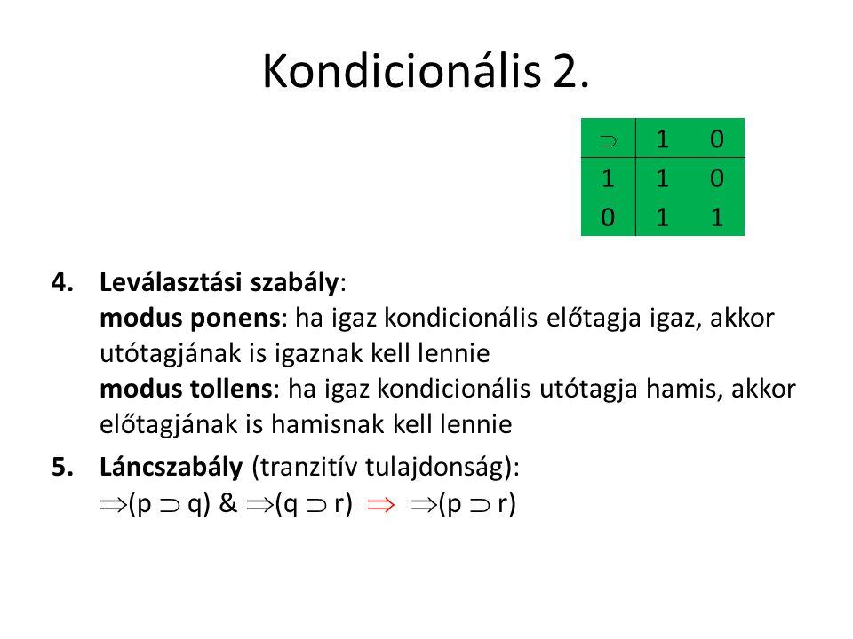 Kondicionális 2.  1.