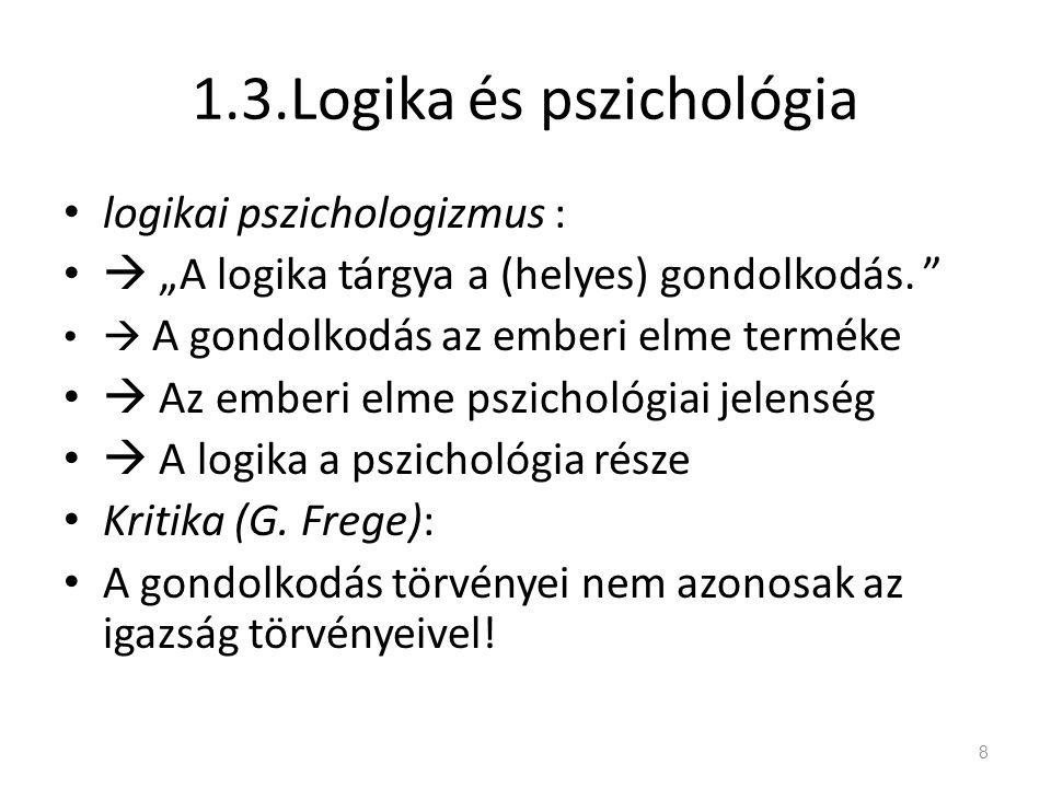 1.3.Logika és pszichológia