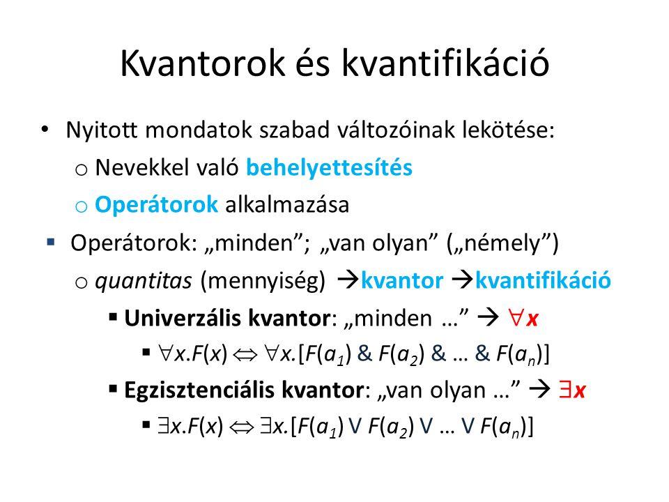 Kvantorok és kvantifikáció