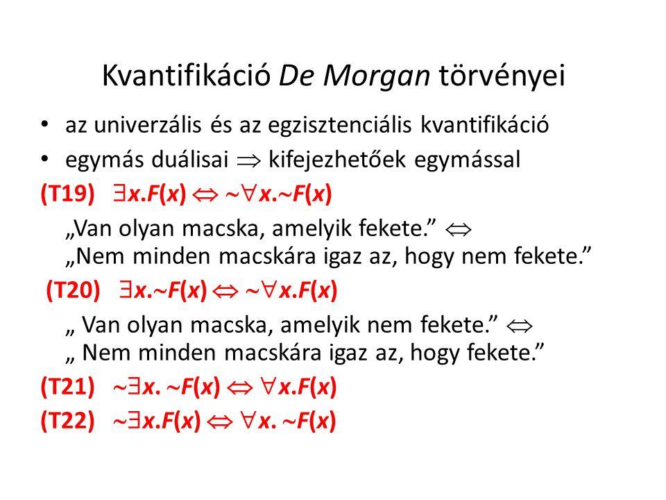 Kvantifikáció De Morgan törvényei