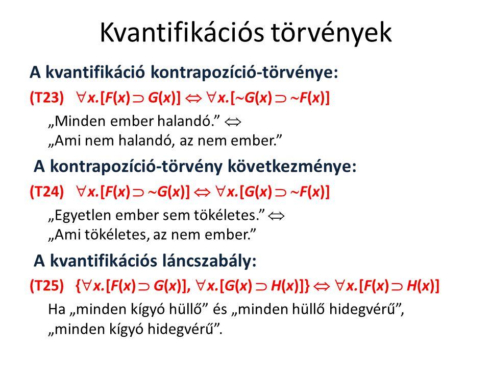 Kvantifikációs törvények