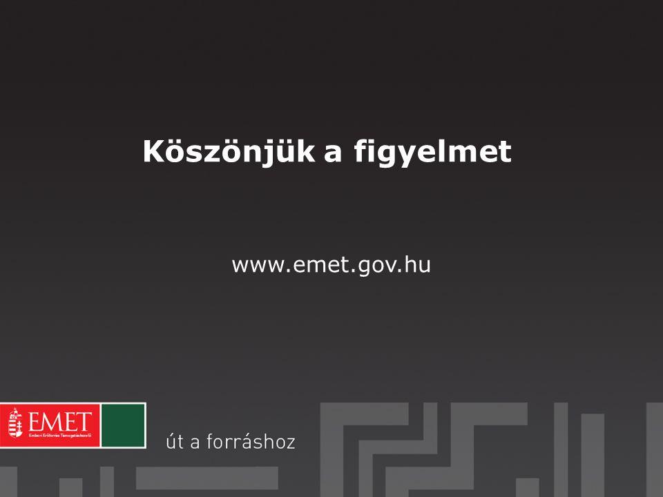 Köszönjük a figyelmet www.emet.gov.hu