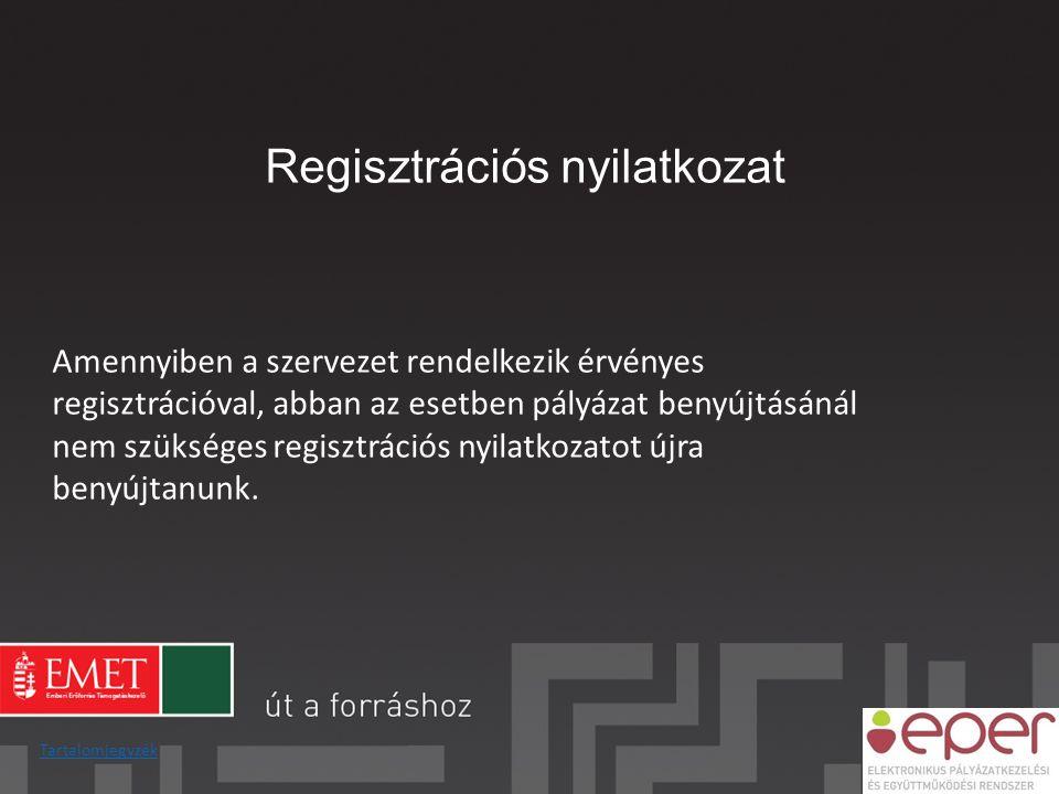 Regisztrációs nyilatkozat