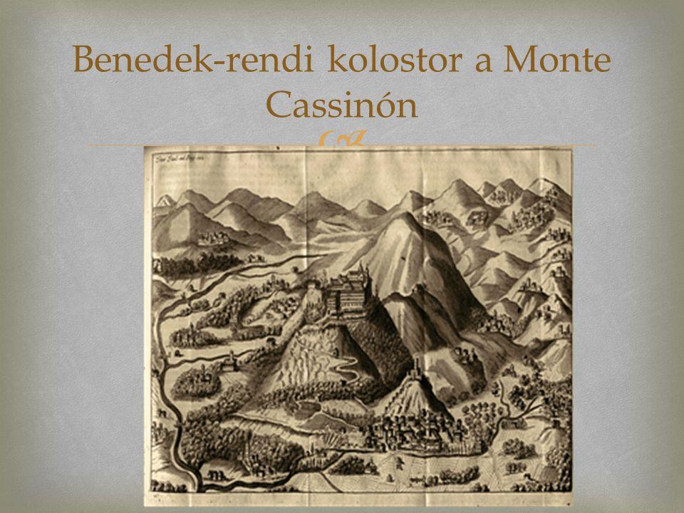 Benedek-rendi kolostor a Monte Cassinón