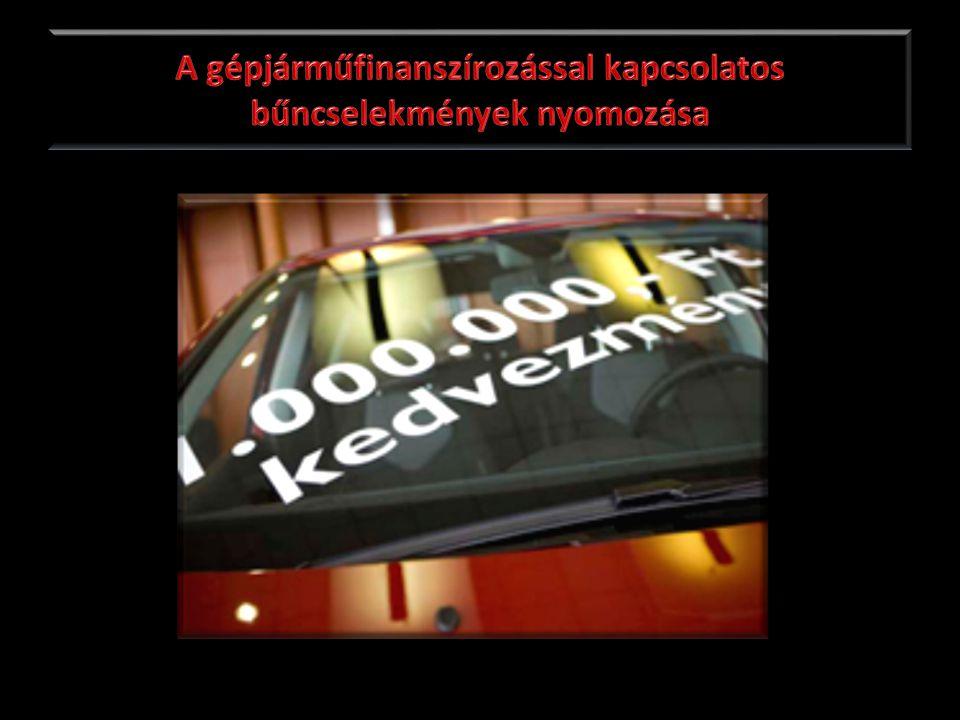 A gépjárműfinanszírozással kapcsolatos bűncselekmények nyomozása