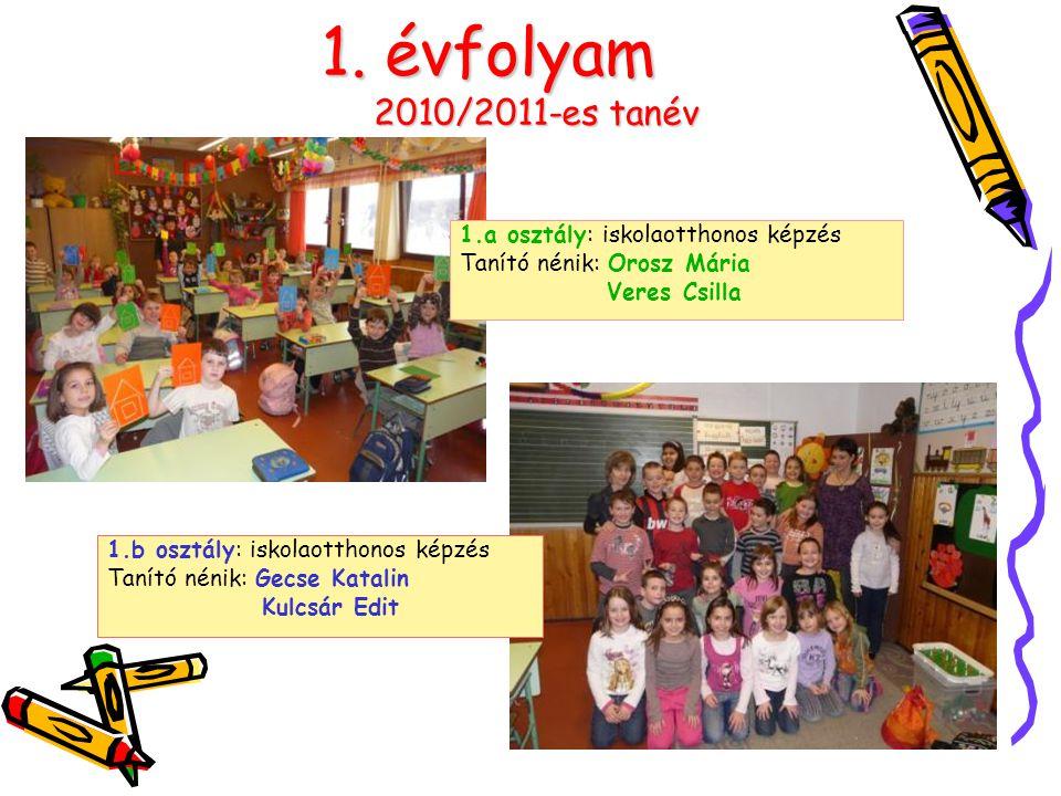 1. évfolyam 2010/2011-es tanév 1.a osztály: iskolaotthonos képzés
