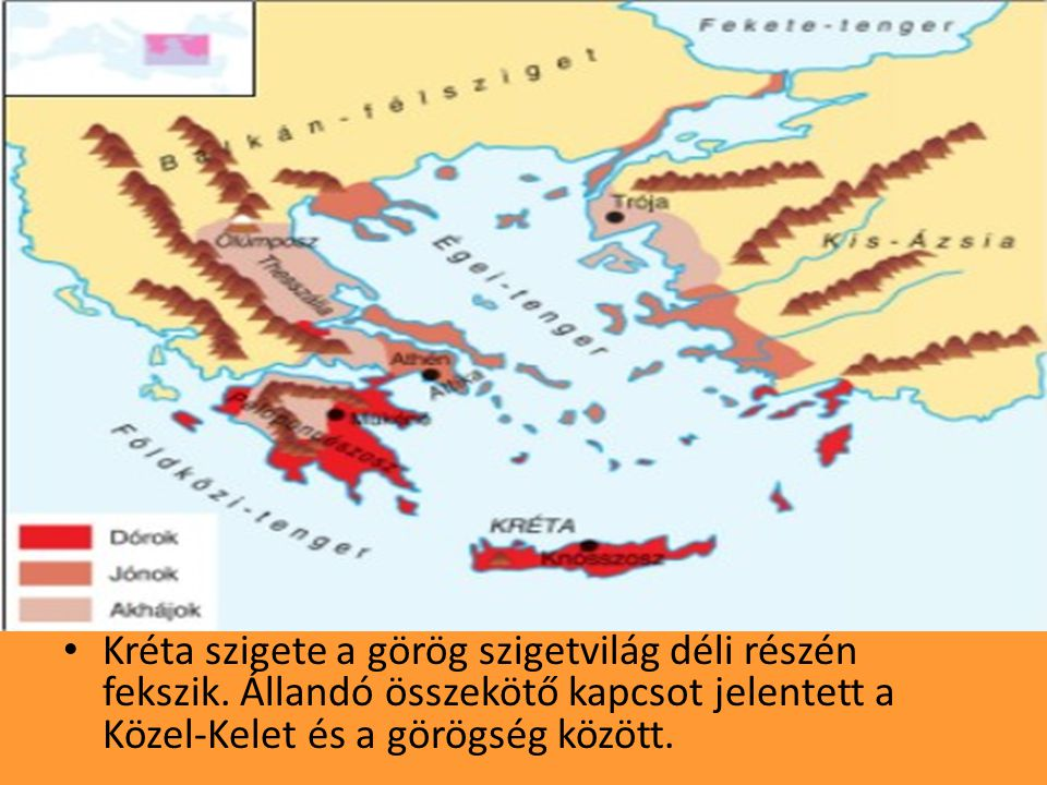 Kréta szigete a görög szigetvilág déli részén fekszik