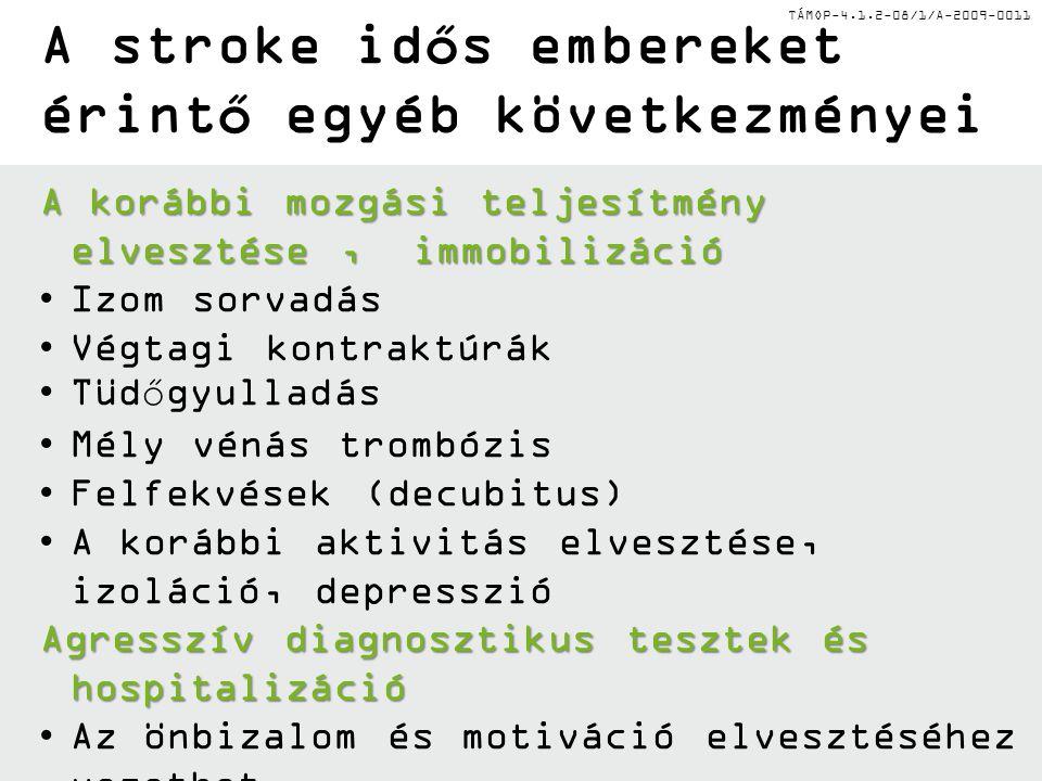 A stroke idős embereket érintő egyéb következményei
