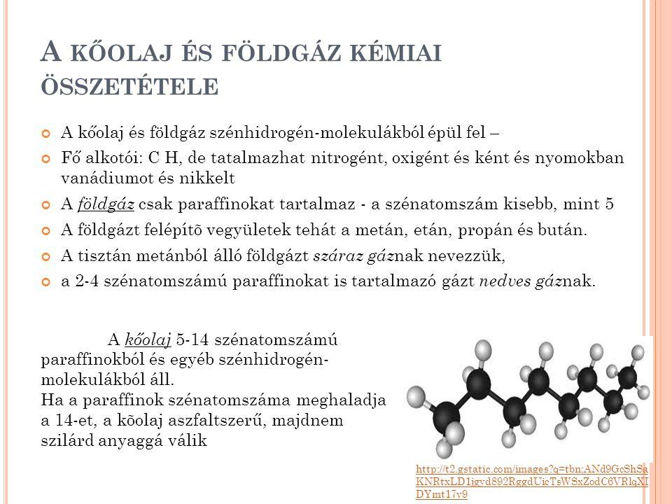 A kőolaj és földgáz kémiai összetétele