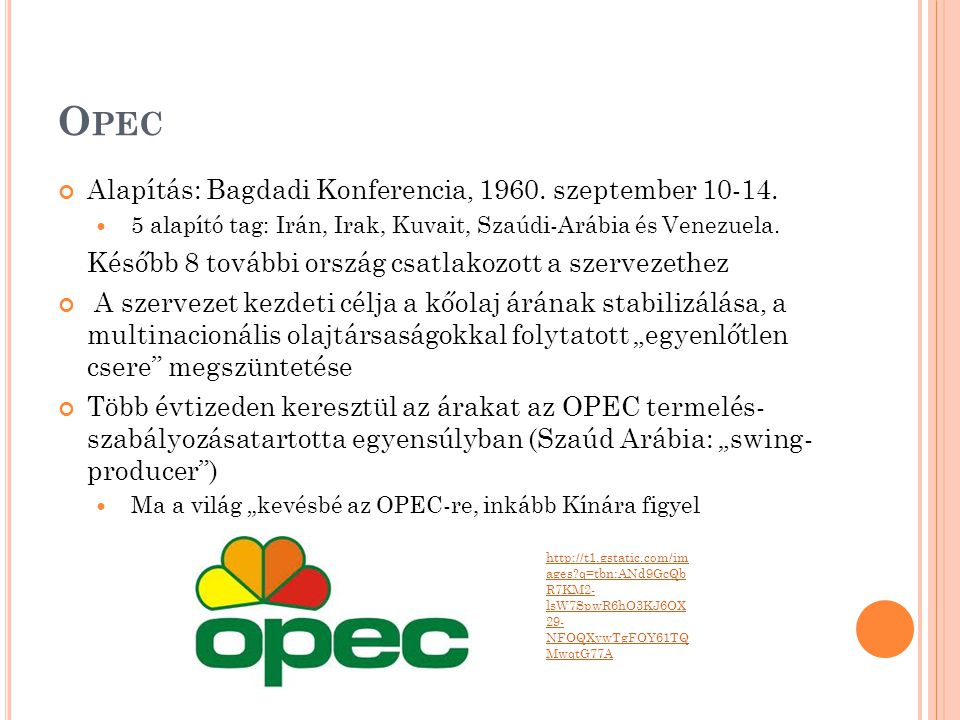 Opec Alapítás: Bagdadi Konferencia, 1960. szeptember 10-14.