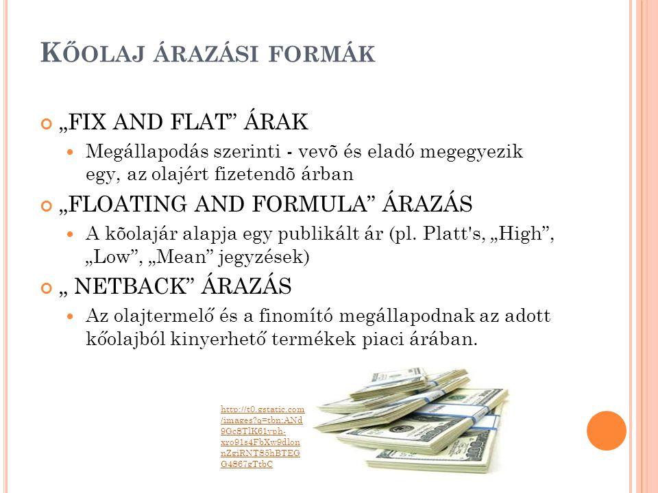 """Kőolaj árazási formák """"FIX AND FLAT ÁRAK"""