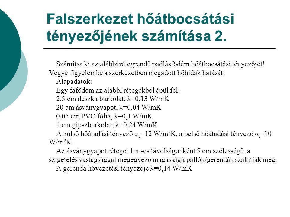 Falszerkezet hőátbocsátási tényezőjének számítása 2.