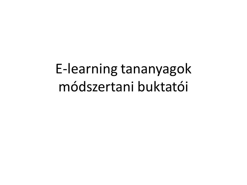 E-learning tananyagok módszertani buktatói