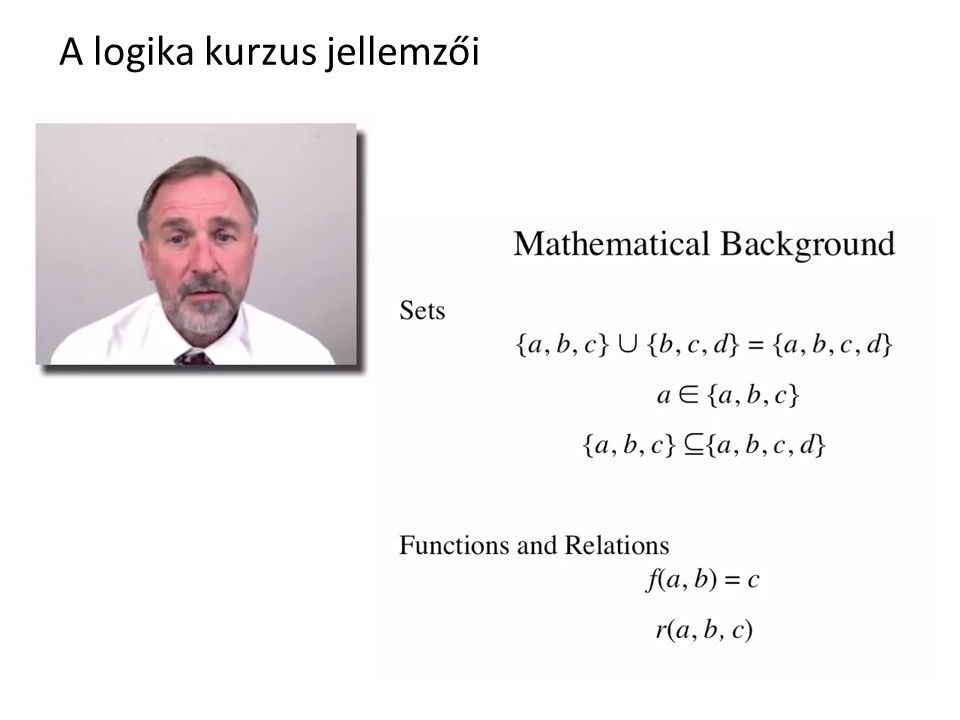 A logika kurzus jellemzői