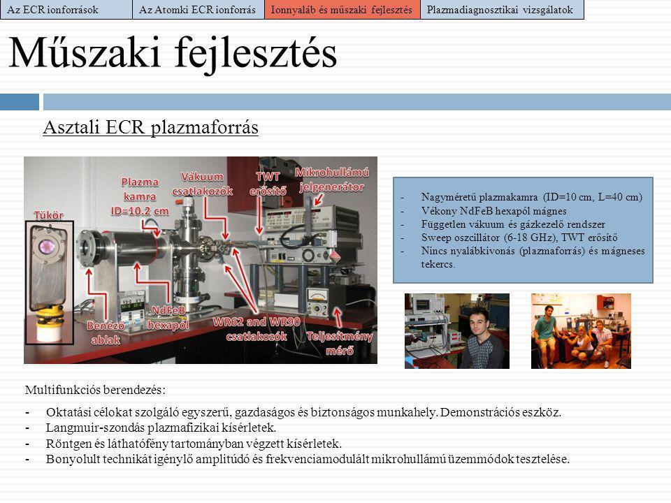 Műszaki fejlesztés Asztali ECR plazmaforrás Multifunkciós berendezés: