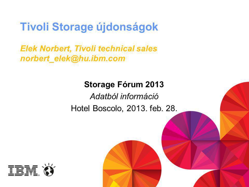 Storage Fórum 2013 Adatból információ Hotel Boscolo, 2013. feb. 28.